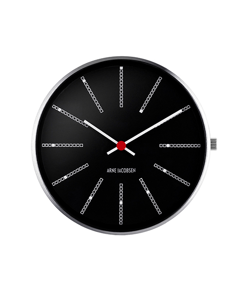 ARNE JACOBSEN BANKERS WATCH FACE Black